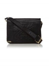 BIBA at House of Fraser Embossed Black Shoulder Bag