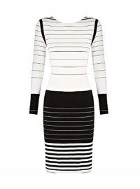 Marks & Spencer Per Una stripe monochrome dress