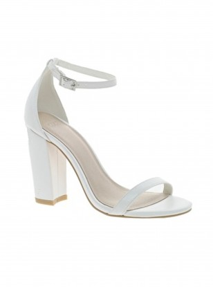 Asos White Heeled Sandals
