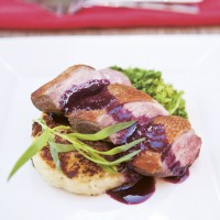 Blueberry Duck with Potato Rosti