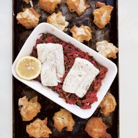Piquant Pepper-Baked Cod and Filo Crunch
