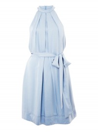 French Connection Blue Silk Dress