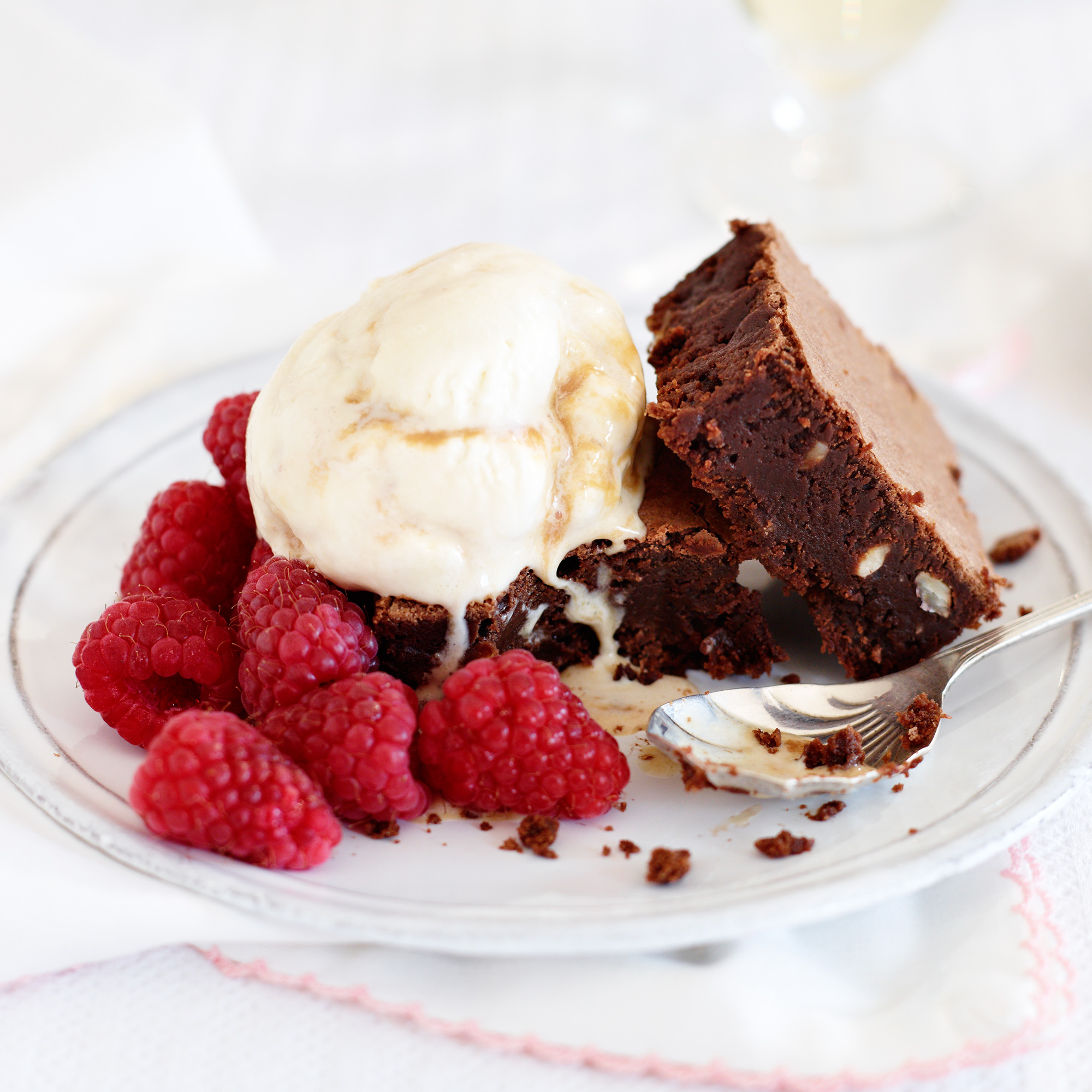 Hazelnut Brownies and Caramel Ice Cream - Woman And Home