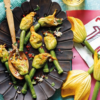 Spicy Crab Courgette Flowers