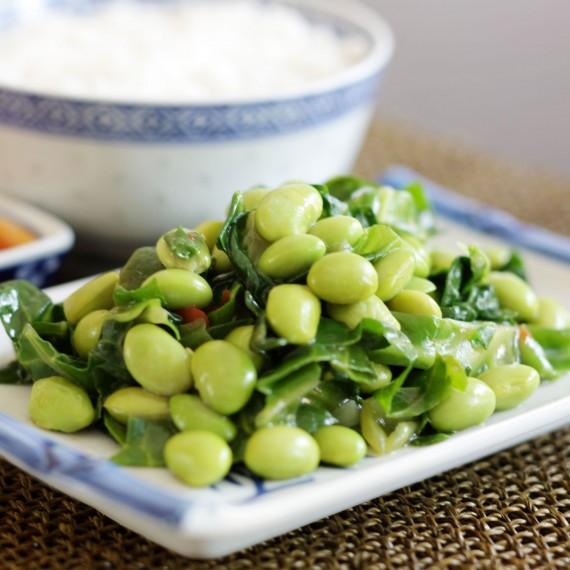 Pea, Feta, Mint and Soya Bean Salad