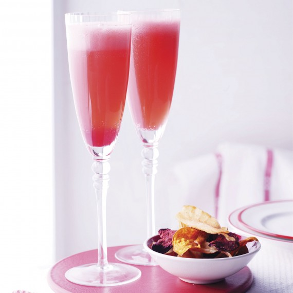 Raspberry Champagne - cocktail recipes - Woman And Home
