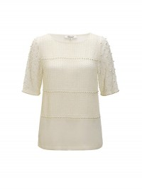 Somerset by Alice Temperley at John Lewis Beaded Cream Top
