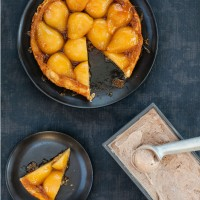 Pear and honey tatin with allspice ice cream