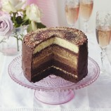 Chocolate ombr� cake with salted caramel