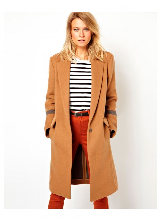 ASOS camel coat photo
