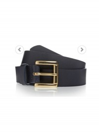 Next Navy Leather Belt