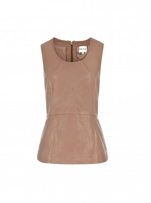 Reiss Leather Peplum Gala Top