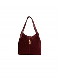 Asos Leather Hobo Suede Bag With Clip Lock