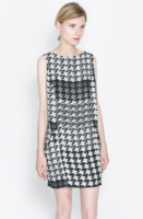 Zara Houndstooth Checked Dress