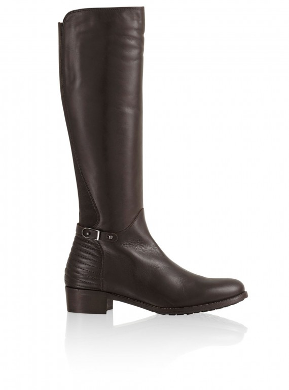 Russell&Bromley quilt heel riding boot photo