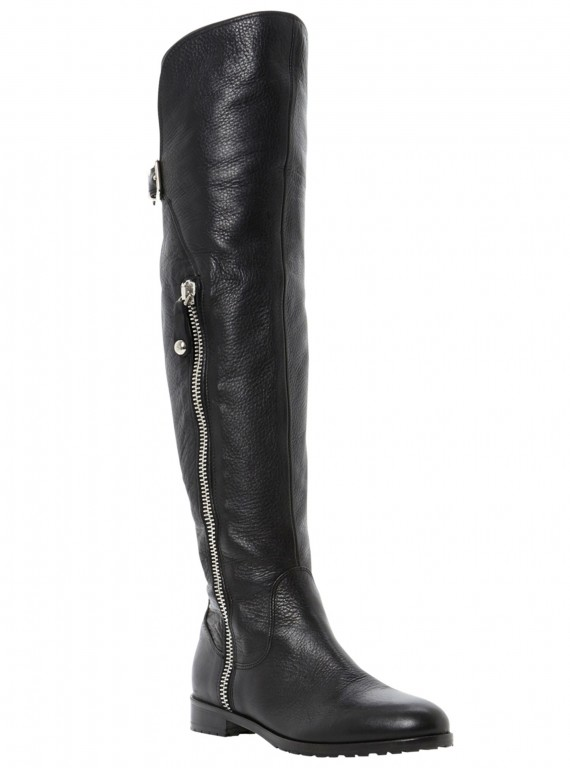 dune-black-petrini-leather-over-the-knee-long-boots photo