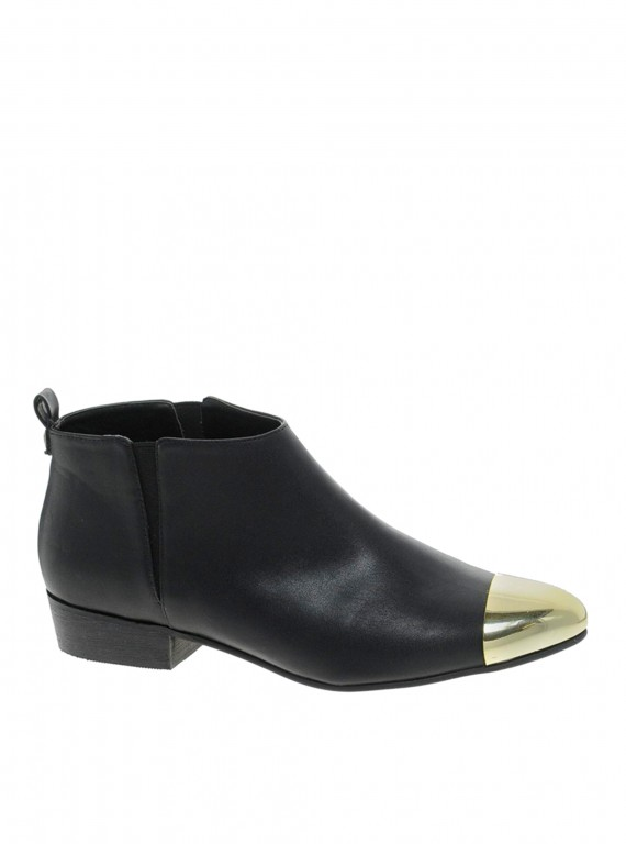 River Island Metal Toe Cap Ankle Boots photo