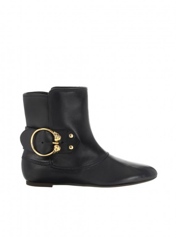 Alexander McQueen Twin Skull Ankle Boot photo