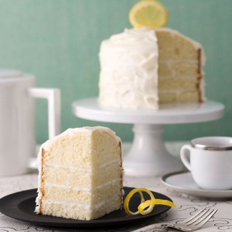 Lemon sorbet tiny cake