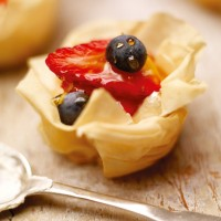 Blueberry and Strawberry Filo Pies