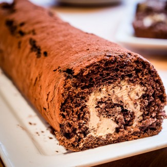 Salted Caramel and Chocolate Swiss Roll