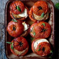 Aubergine �Parmigiana� with Roasted Tomato