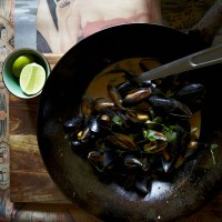 Mussels Cooked in Beer with Chilli Jam