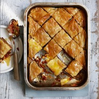 Tomato and Runner Bean Baklava