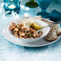 Prawns in anchovy butter