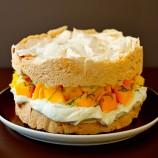 Victoria Meringue Sponge with Mango and Cream filling