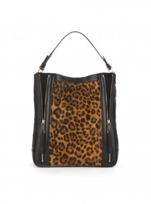 Autograph at Marks & Spencer Leather Animal Print Hobo Bag