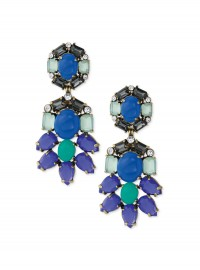 Stella and Dot Peacock Chandelier Earrings