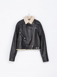 Zara Leather Sheepskin Jacket
