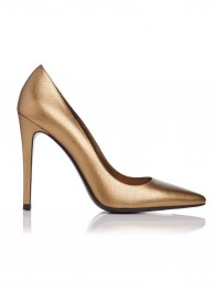 LK Bennett Metallic Textured Leather Heels