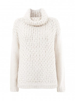 Mint Velvet Cream Wavy Stitch Knit