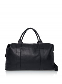 Next Black Leather Weekend Bag