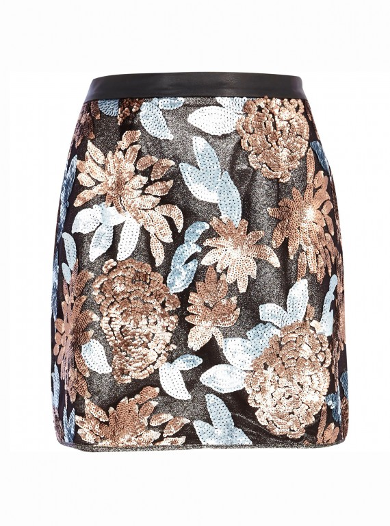 River-Island-black-embellished-skirt
