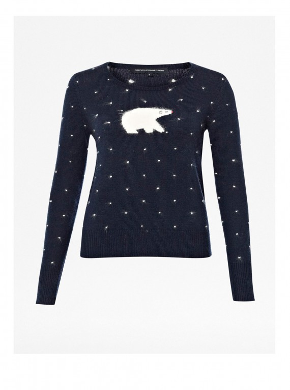 French Connection Polar Bear Jumper photo