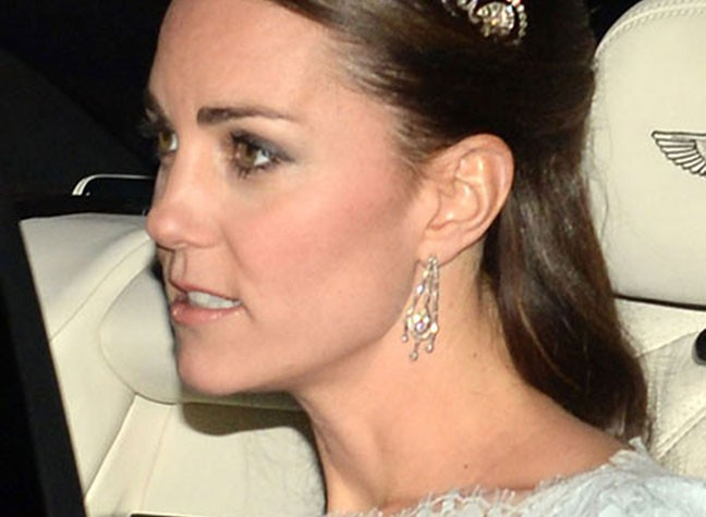 Catherine Dazzles At Buckingham Palace Ball