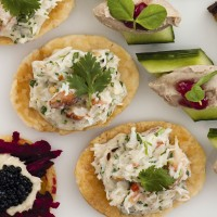 Mini Crab Open Tartlets
