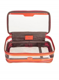 Anya Hindmarch In Flight Neon Patent Leather Trimmed Travel Case