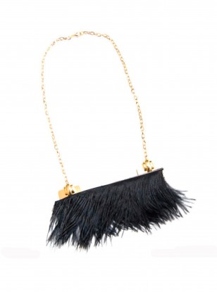 Noemiah at Boticca Statement Feather Fringe Necklace