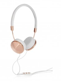 Frends Layla Leather and Rose Gold Tone Headphones