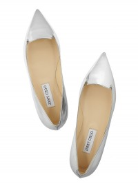 Jimmy Choo Attila Mirrored Leather Point Toe Flats