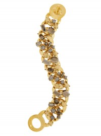 Marc by Marc Jacobs Katie Gold Tone Crystal and Faux Pearl Bracelet