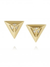 Maria Black Fine Jewellery Sid 18 Karat Gold Diamond Earrings