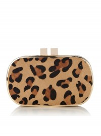 Oasis Carrie Leopard Box Clutch