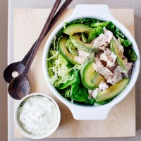 Chicken, Avocado and Walnut Salad