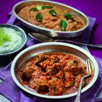 Lamb Rogan Josh with Yellow Dhal