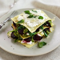 Open Beetroot, Ricotta & Mint Ravioli